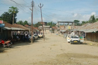 The market place in Mizoram are becoming centre of activities for the economy. This photo shows the amrket area in Chawngte under the Chakma Autonomous District Council.